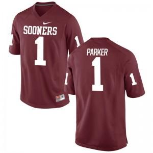 Jordan Parker Oklahoma Official Men Game Jerseys - Crimson