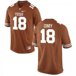 Josh Covey University of Texas NCAA Mens Game Jersey - Orange