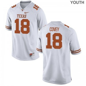 Josh Covey University of Texas Official Youth(Kids) Limited Jersey - White