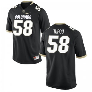 Josh Tupou University of Colorado Official Mens Game Jerseys - Black