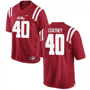 Josiah Coatney Ole Miss Rebels NCAA Men Game Jerseys - Red