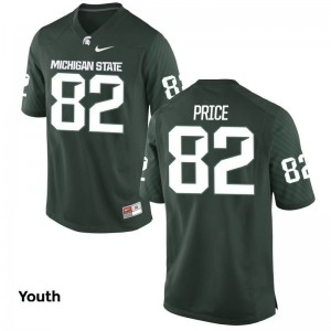 Josiah Price Michigan State Spartans Football For Kids Game Jerseys - Green