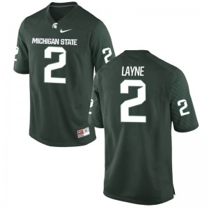 Justin Layne Michigan State Spartans Official Men Limited Jersey - Green