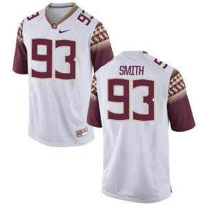 Justin Smith Florida State College Mens Game Jersey - White