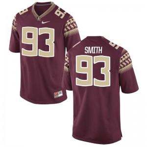 Justin Smith FSU Player For Men Limited Jersey - Garnet