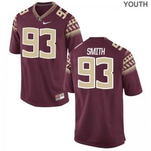 Justin Smith Seminoles University Youth Game Jersey - Garnet
