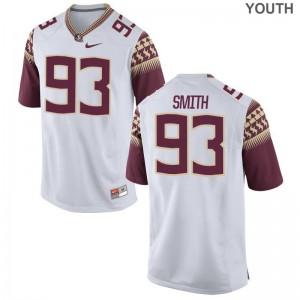 Justin Smith Seminoles Football Youth Game Jerseys - White