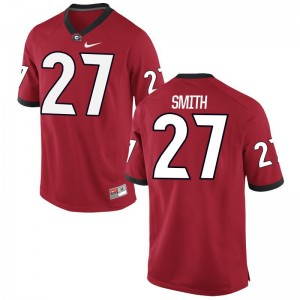 KJ Smith University of Georgia Player For Men Game Jersey - Red