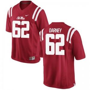 Kamden Darney Ole Miss Official For Men Game Jersey - Red