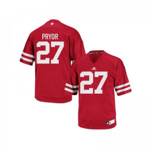 Kendric Pryor University of Wisconsin Official Men Authentic Jersey - Red