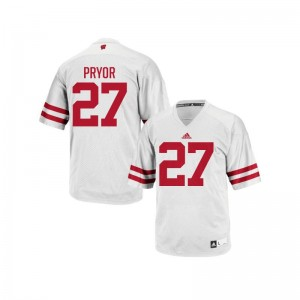 Kendric Pryor Wisconsin Badgers High School For Men Authentic Jersey - White