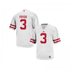 Kendric Pryor University of Wisconsin Football For Men Replica Jerseys - White