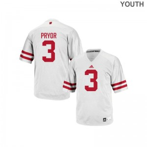 Kendric Pryor Wisconsin Badgers NCAA Youth(Kids) Replica Jerseys - White