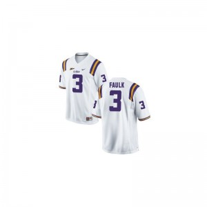 Kevin Faulk Tigers Player Mens Limited Jerseys - White