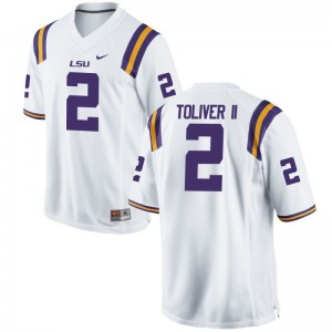 Kevin Toliver II Louisiana State Tigers University Mens Limited Jersey - White
