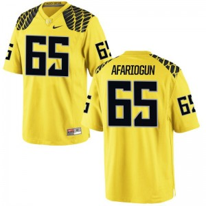 Khalil Afariogun Oregon Ducks College Youth(Kids) Limited Jersey - Gold