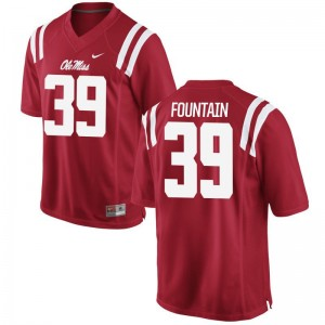 Kweisi Fountain University of Mississippi NCAA Mens Game Jerseys - Red