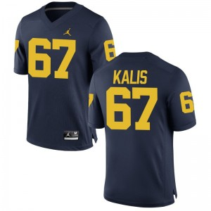 Kyle Kalis Michigan Player For Men Game Jerseys - Jordan Navy