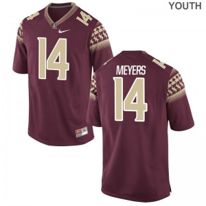 Kyle Meyers Florida State NCAA Youth Game Jersey - Garnet