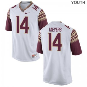 Kyle Meyers FSU Player For Kids Game Jersey - White