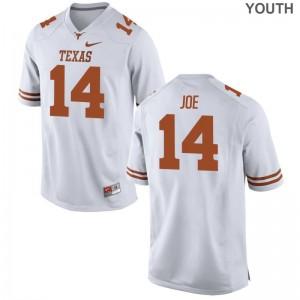 Lorenzo Joe University of Texas Football Youth(Kids) Limited Jersey - White