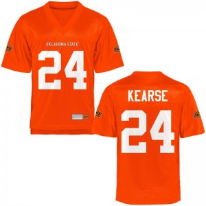 Malik Kearse OK State Player For Men Game Jersey - Orange