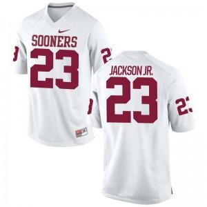Mark Jackson Jr. OU Sooners High School Men Game Jersey - White