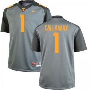 Marquez Callaway Tennessee University Mens Game Jersey - Gray