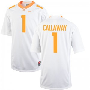 Marquez Callaway Vols University Mens Game Jerseys - White
