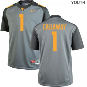 Marquez Callaway UT High School Youth(Kids) Game Jersey - Gray