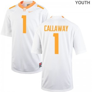 Marquez Callaway Tennessee Vols NCAA Kids Game Jerseys - White