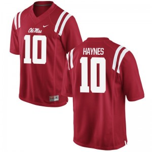 Marquis Haynes Rebels High School Mens Game Jersey - Red