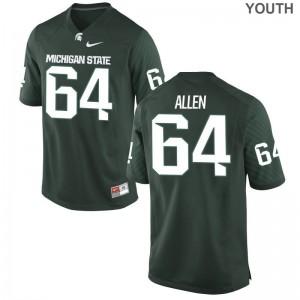 Matt Allen Michigan State University Player Youth Game Jersey - Green
