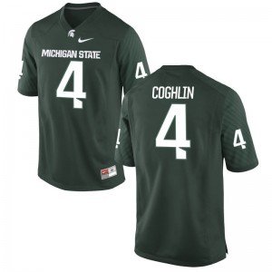 Matt Coghlin Spartans NCAA For Men Game Jerseys - Green
