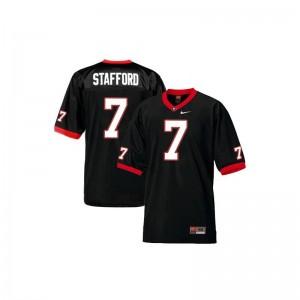 Matthew Stafford Georgia Alumni For Men Game Jersey - Black