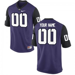 TCU College Men Limited Customized Jerseys - Purple