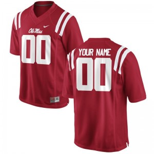 Ole Miss High School For Men Limited Customized Jerseys - Red