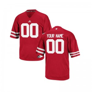 Wisconsin NCAA For Men Limited Custom Jersey - Red