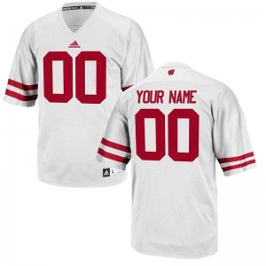UW Football Mens Limited Customized Jersey - White