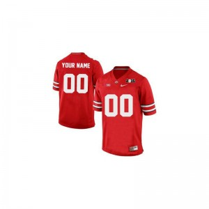 Ohio State College Mens Limited Custom Jersey - Red 2015 Patch