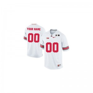 Ohio State Football For Men Limited Customized Jerseys - White 2015 Patch