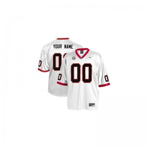 Georgia Bulldogs High School For Men Limited Customized Jersey - White
