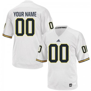 Michigan High School For Men Limited Customized Jersey - White