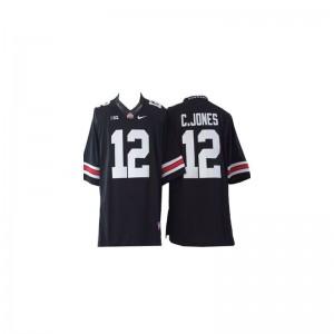 Cardale Jones OSU Buckeyes University Men Game Jerseys - #12 Black