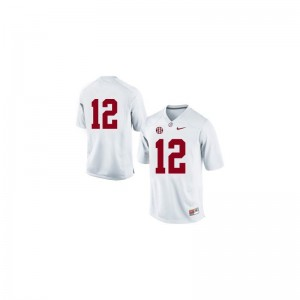 Joe Namath Bama Player Mens Game Jerseys - #12 White
