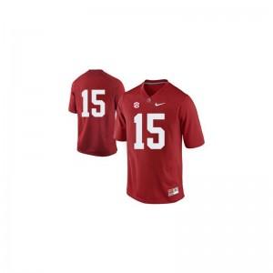 JK Scott Alabama Crimson Tide Football Mens Game Jersey - #15 Red