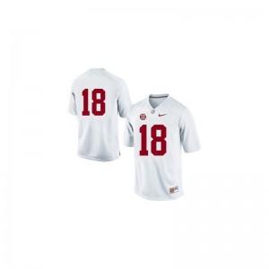 Cooper Bateman Bama Football For Men Game Jersey - #18 White