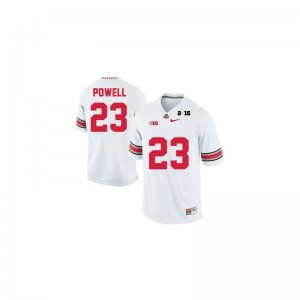 Tyvis Powell OSU Buckeyes College For Men Limited Jersey - #23 White Diamond Quest 2015 Patch