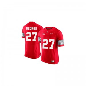 Eddie George Ohio State Buckeyes Official For Men Game Jerseys - #27 Red Diamond Quest Patch
