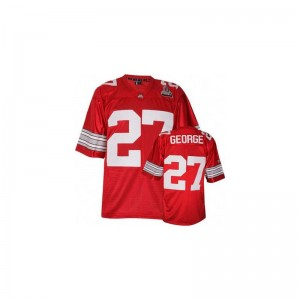 Eddie George Ohio State High School Mens Game Jerseys - #27 Red